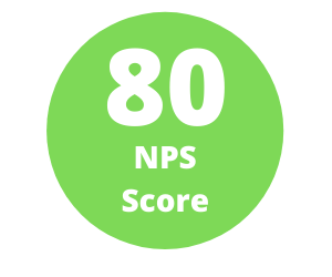 NPS Score of 80