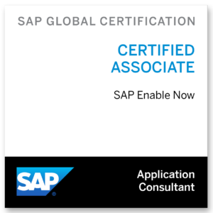 SAP Enable Now Certification